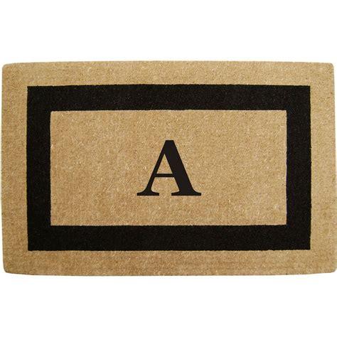Monogrammed Doormats by Monogrammed Coir Doormat In Doormats