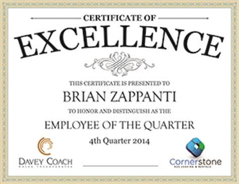 brian zappanti honored as employee of the quarter