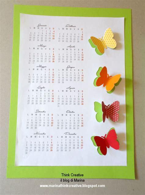 calendario da tavolo fai da te calendario fai da te 2015 think creative il di marina