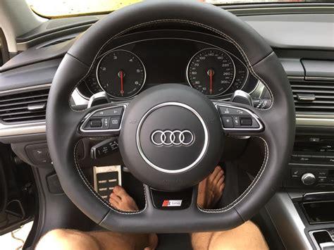 Audi A6 Lenkrad lenkradumbau rund auf abgeflacht mit schaltwippen bei audi a6