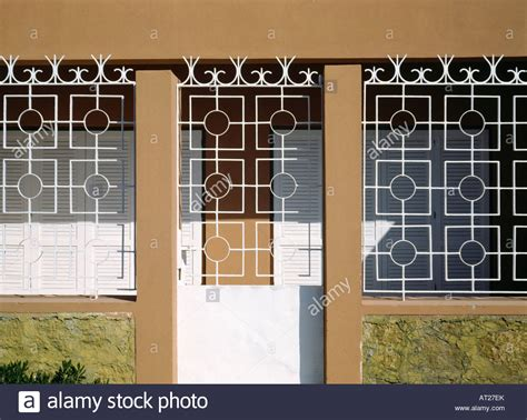security grills for house windows white metal security grilles on door and windows of turkish house stock photo royalty