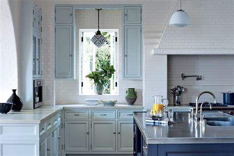 painted blue kitchen cabinets painted kitchen cabinet ideas photos architectural digest