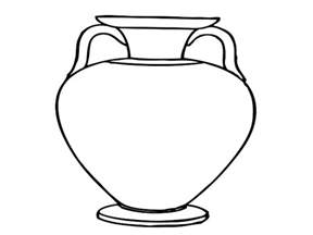 vase line drawing clipart best