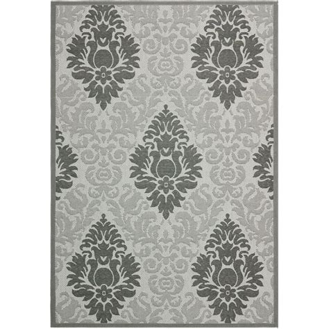 safavieh cy7529 78a5 courtyard indoor outdoor area rug light grey lowe s canada safavieh courtyard light gray anthracite 6 ft 7 in x 9 ft 6 in indoor outdoor area rug