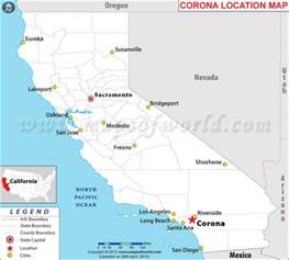 map of corona california where is corona california