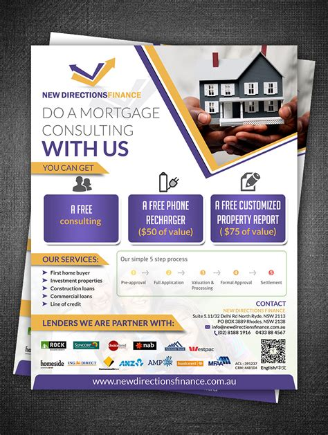 Flyer Design For Xiaoyu Li By Esolz Technologies Design 4445576 Mortgage Broker Flyer Template