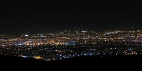 View Of Los Angeles City Lights From Rancho Palos Verdes Palos Verdes Lights