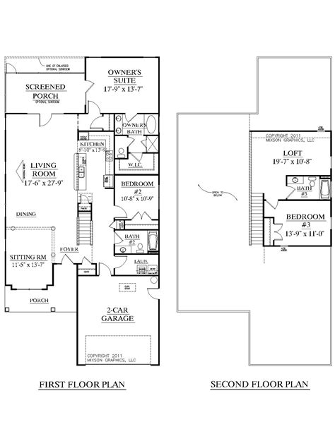 1 1 2 story floor plans southern heritage home designs house plan 2344 b the