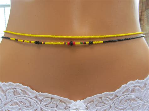 waist bead waist guyanese dreams carribean belly with