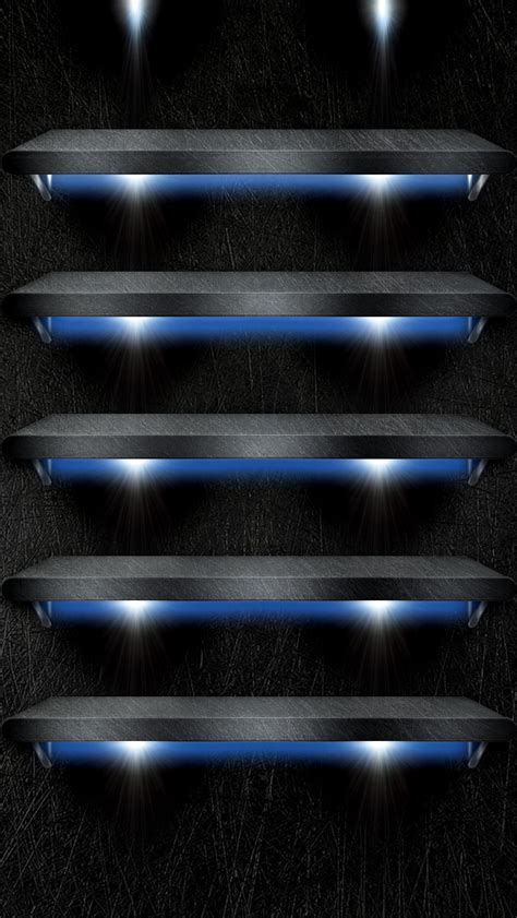 Iphone 4s Shelf Wallpaper by Shelves With Spotlights Wallpaper Free Iphone