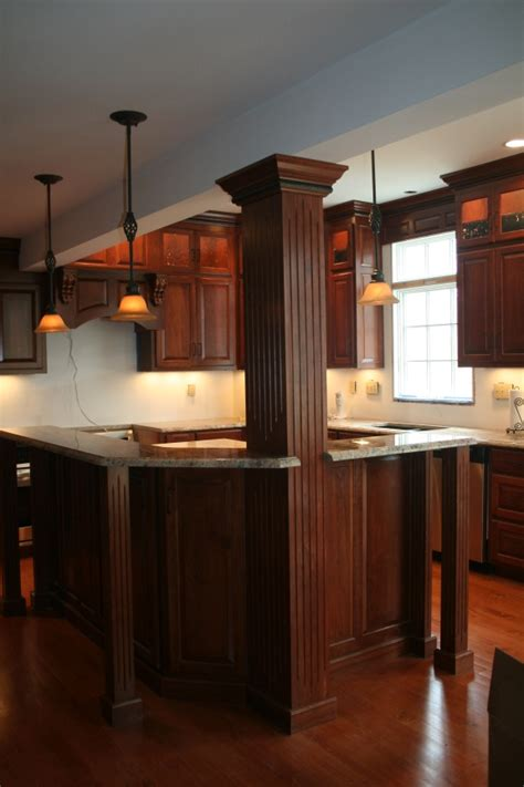 kitchen island columns shapes islands dark cabinets kitchens islands bar