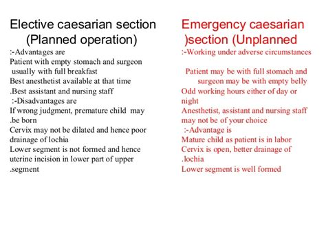 advantages and disadvantages of c section cesarean section hennawy