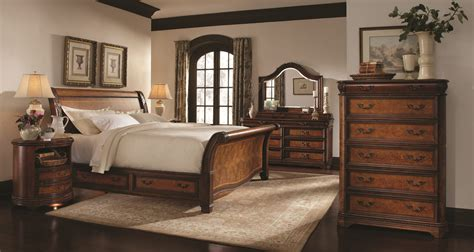 aspenhome napa sleigh storage bedroom set  cherry