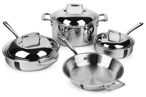 Set Supra7 Stainless all clad d7 stainless steel cookware set 7