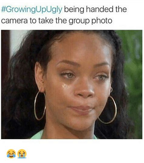 Photo Memes - growingupugly being handed the camera to take the group