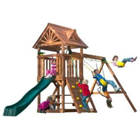 swing n slide playsets acrobat wood complete playset 4367