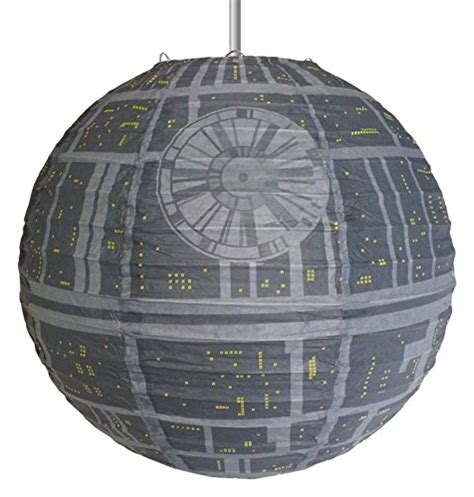 star wars death star giant paper lantern thinkgeek star wars death star paper light shade