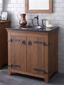 Farmhouse Vanity Bathroom Trails 30 Quot Americana Vanity In Chestnut Farmhouse Bathroom Vanities And Sink Consoles