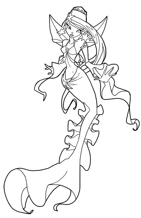 winx mermaids coloring pages coloring page mermaid winx