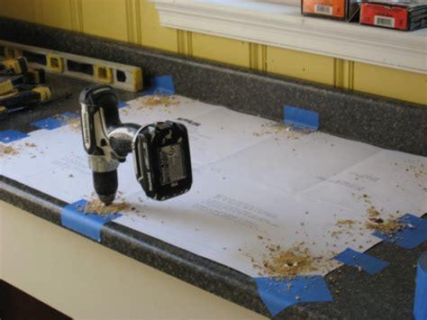 cutting out sink laminate countertop installing a self sink in a postform laminate