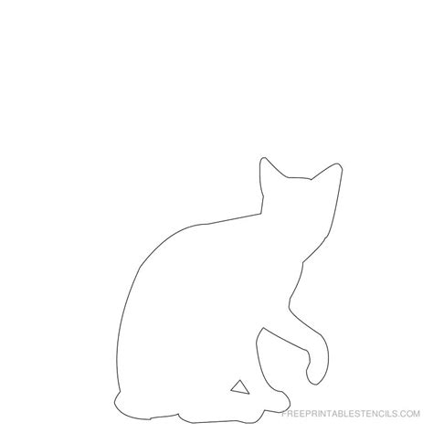 print templates free printable cat stencil designs free printable stencils