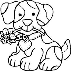 coloring sheet dogs puppies gallery