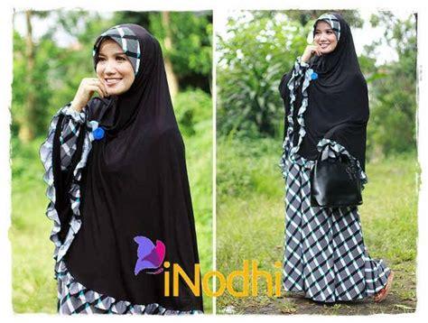 Baju Dress Hitam Kotak Kotak butik busana muslim terbesar dan terlengkap po gamis