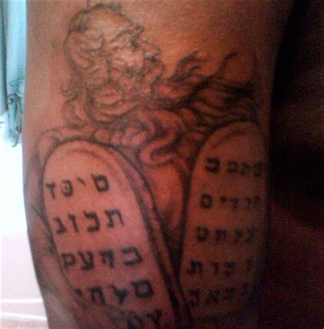 10 commandments tattoo bad hebrew tattoos the ten commandments gibberish edition