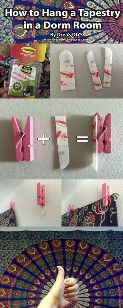 how to hang a tapestry in a room diy room decorations decorating hacks tips for dorms