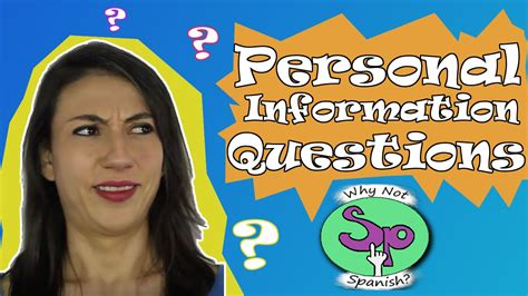 spanish preguntas personales how to ask personal information questions in spanish