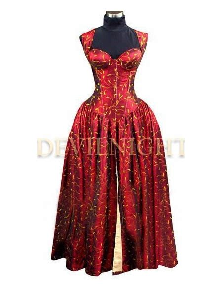 pattern gothic dress red printed pattern corset victorian dress gothic