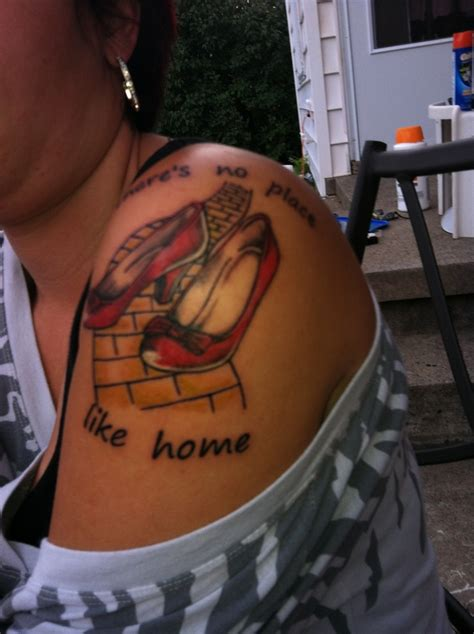 hometown tattoos there s no place like home wizard of oz tattoos