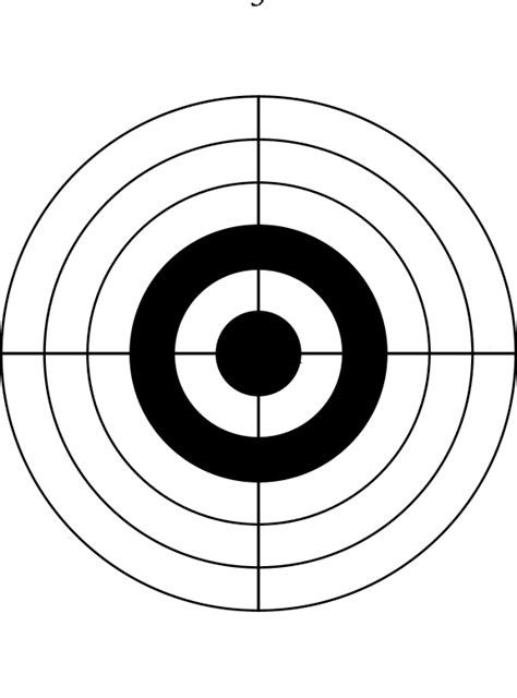printable shooting targets uk make and print your own targets general shooting matters