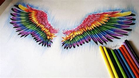 colored wings tattoo rainbow wing tattspiration wings