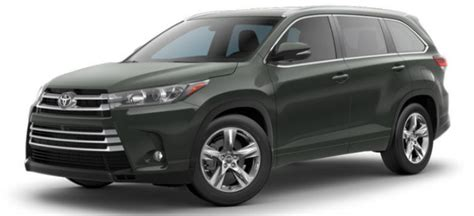 Toyota Highlander Colors 2017 Toyota Highlander Exterior Color Options