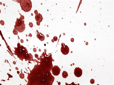 pattern formation in drying drops of blood blood spatter
