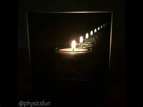 how to make infinity mirror tea light candle using physics
