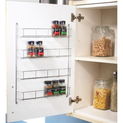 Kitchen Door Racks Storage Swivel Store Cabinet Organiser 4 Tier Wall Spice Rack