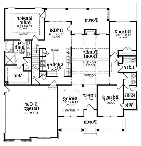 five bedroom plan ranch house floor plans with