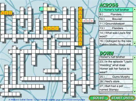 preguntas dificiles sobre los simpsons juego crucigrama informaci 243 n de los simpson