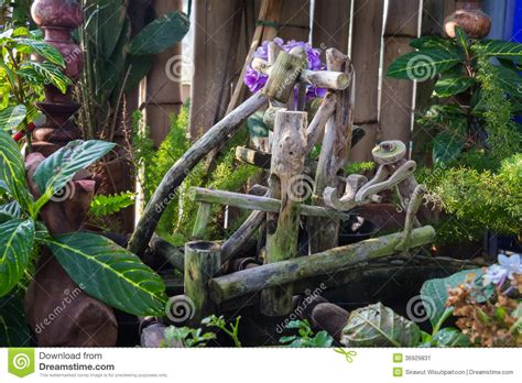 The Doll In The Garden by Wooden Doll In The Garden Stock Image Image 36929831