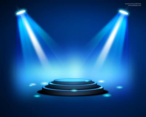 design effect stage lighting background with spot light effects psd