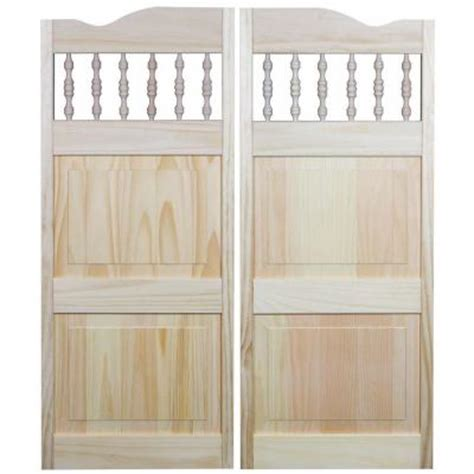 wooden swinging doors pinecroft 36 in x 42 in royal orleans spindle top wood