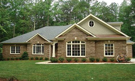 rancher homes brick ranch house plans brick one story house plans all
