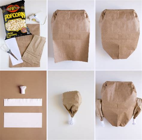 Steps Of Paper Bag - paper bag turkey with popcorn favecrafts