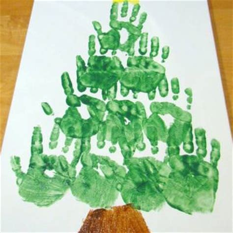 hand print christmas tree christmas activities for kids