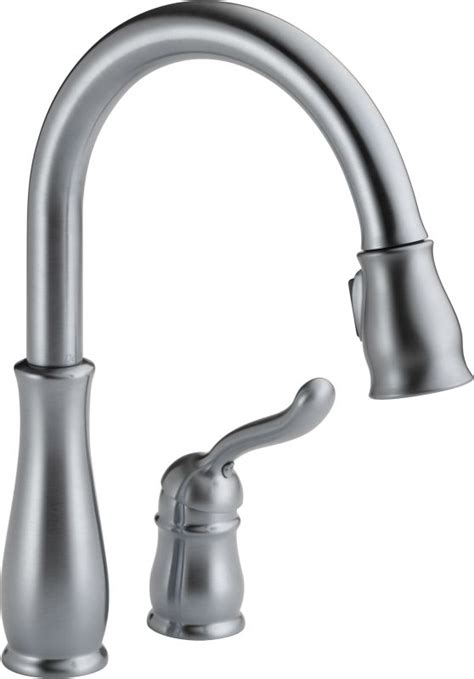 delta leland kitchen faucet faucet 978 arwe dst in arctic stainless by delta