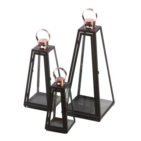 laterne kerzenhalter laterne schwarz pyramide metall windlicht kerzenhalter