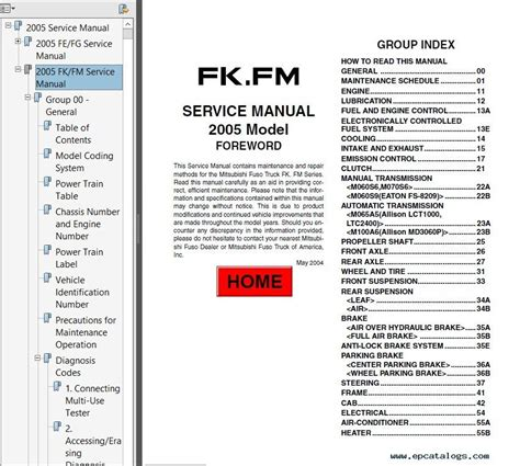 2005 shop manual online service and repair manuals html autos post mitsubishi fuso 2005 service manual pdf