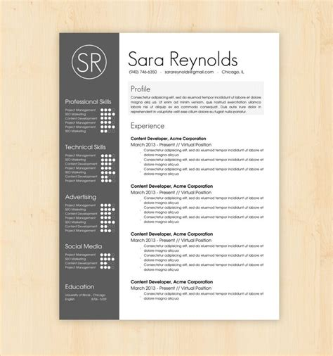 resume template ideas 1000 ideas about professional resume template on